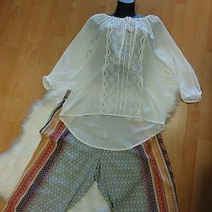 Sacred Threads Boho Lace Top